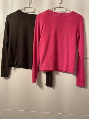 New Yorker Sweter z okrągłym dekoltem różowy neonowy-khaki