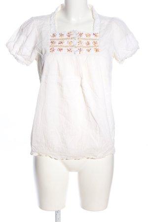 2 Elles Blouse met korte mouwen wit casual uitstraling