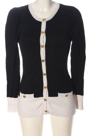 2 Elles Gebreide cardigan zwart-wit casual uitstraling