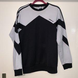 Adidas Sweter z okrągłym dekoltem biały-czarny