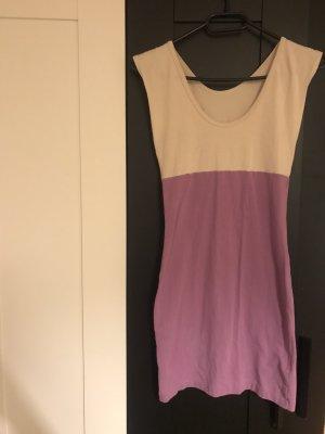 American Apparel Robe à manches courtes violet-blanc cassé