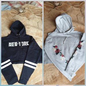 H&M Hooded Sweater black-grey