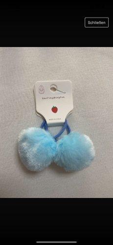 Wstążka do włosów baby blue