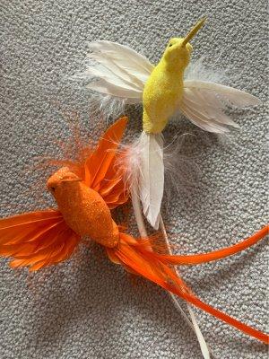 2 Haarklammern Kolibri Glitzer