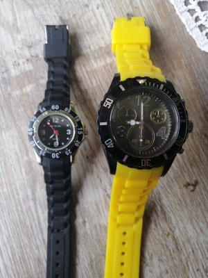 ohne Marke Analoog horloge zwart-geel