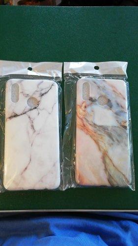 Carcasa para teléfono móvil blanco-color rosa dorado