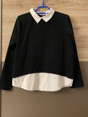 Best Connections Long Sleeve Blouse white-black