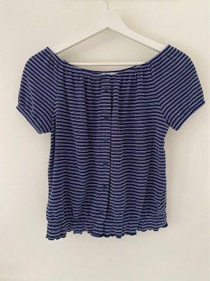 Promod Camisa tipo Carmen blanco-azul oscuro