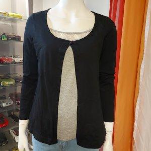 Rainbow Camicia a tunica nero-grigio chiaro Cotone