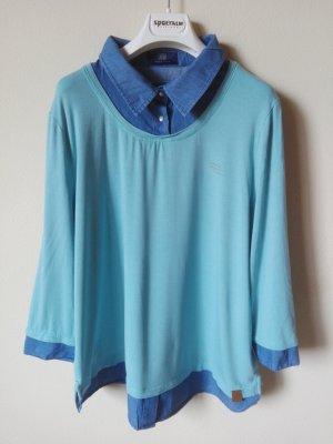 fiora blue Empiècement de blouses turquoise-bleu viscose