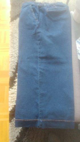 b.p.c. Bonprix Collection Jeans a 7/8 blu fiordaliso Cotone