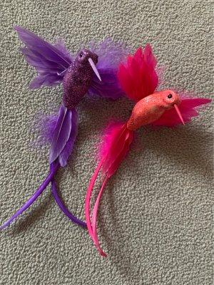 2 Kolibri Glitzer Haarklammern