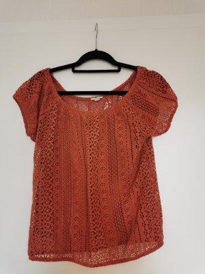 Esprit Gehaakt shirt abrikoos-roodbruin