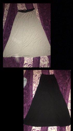 2 lange röcke schwarz und grau