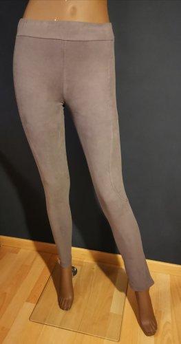 2 Leggings in Velourleder Optik