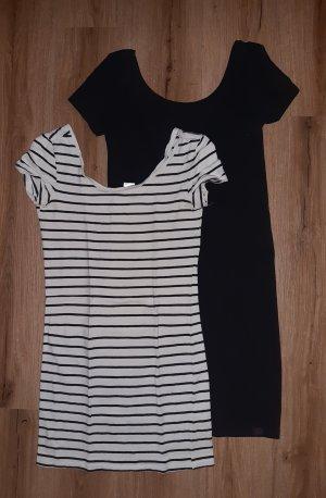 2 Longshirts H&M schwarz und gestreift XS