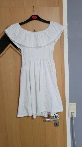Asos Off-The-Shoulder Dress white-black cotton