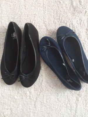Ballerines Mary Jane noir-bleu foncé
