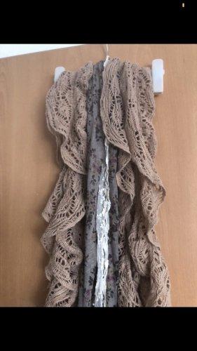 Szydełkowany szalik antracyt-bladofiołkowy