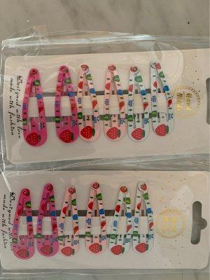 2 Packungen Haarspangen Erdbeeren vintage