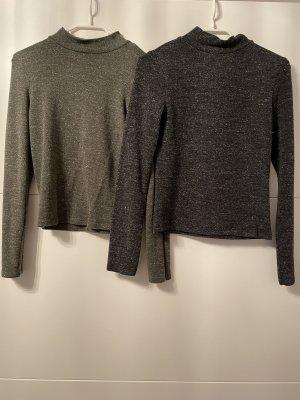 New Yorker Sweter z okrągłym dekoltem antracyt-khaki