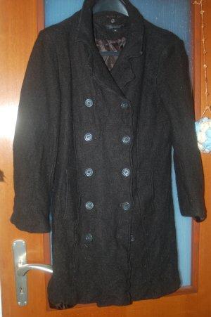 H&M Granatowa kurtka czarny Angora