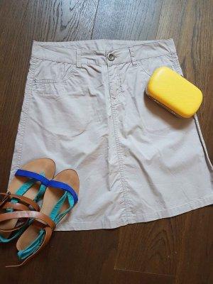 Falda estilo cargo color plata-crema