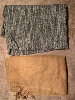 Bufanda tubo beige-gris