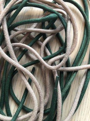Botas con cordones beige-verde bosque