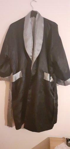 Badmantel zwart-zilver