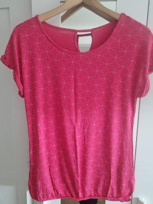 Lascana T-Shirt white-raspberry-red