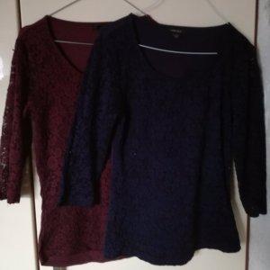 Amisu Siateczkowa koszulka purpurowy-bordo