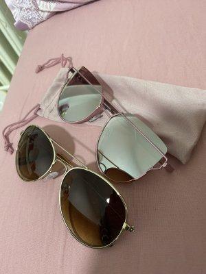 H&M Bril roségoud-donkerbruin