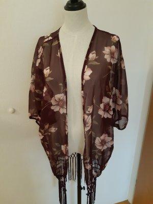 unknown Kimono burdeos-rosa empolvado