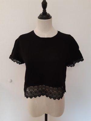Tally Weijl Haut en crochet noir-crème