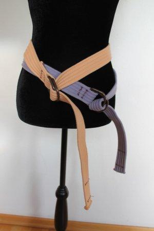 Cintura in tessuto arancione chiaro-blu-viola Cotone