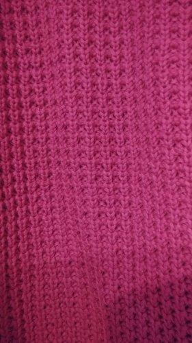 b.p.c. Bonprix Collection Pullover a maglia grossa bordeaux-viola Cotone