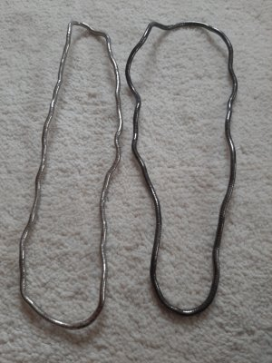 Naszyjnik srebrny-antracyt