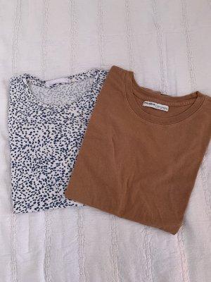 2 süße Shirts von Mango und Pull&Bear