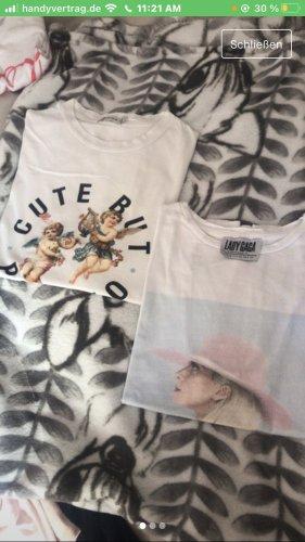 2 t-shirts mit aufdruck