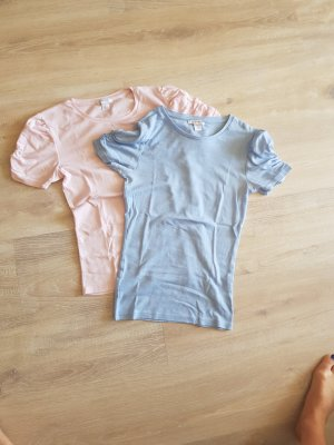 Amisu T-shirt rosé-azuur