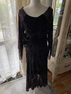 MY DESIGN PARIS Jersey twin set zwart-bruin-paars