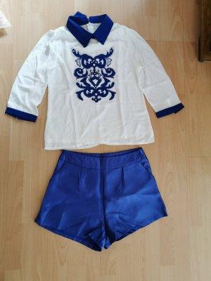 Set lingerie bianco-blu