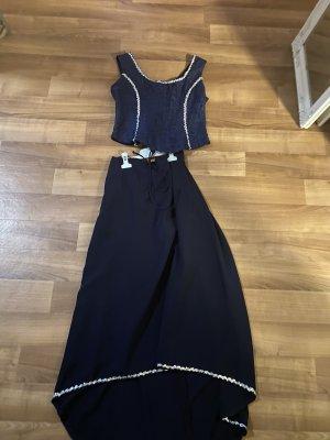 Vestido corsage azul oscuro