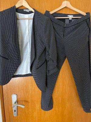 H&M Traje de negocios negro-blanco