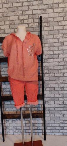 Skort orange tissu mixte
