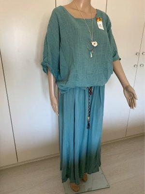 Made in Italy Ensemble en jersey gris vert-bleu cadet