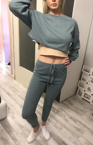 Zara Basic Woven Twin Set slate-gray