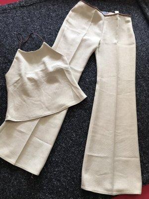 Zara Twin set in tessuto beige chiaro