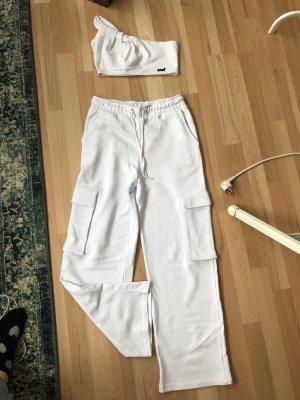 Criminal Damage Pantalón abombado blanco